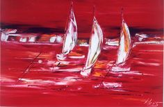 Symphonie en rouge, 35inx51in (89cmx130cm), at Westport River Gallery