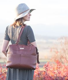 Madeline brown leather diaper bag by Lily Jade Best Diaper Backpack, Diaper Bag Purse, Dad Diaper Bag, Leather Diaper Bags, Gender Neutral Diaper Bag, Best Baby Bags, Lily Jade Diaper Bag, Convertible Diaper Bag, Fashionable Diaper Bags