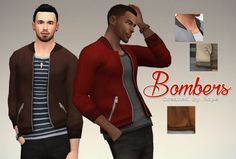 Un Sims au bout du fil. - Bombers Jacket for the Sims 4. To be honest, I'm...