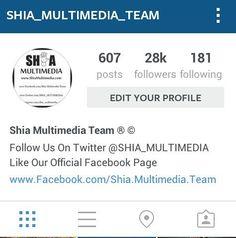 SHUKAR E MOLA  28k Followers Complete On  Shia Multimedia Team  Official Instagram I'd  JAZAKALLAH To  All Momneen & Followers Keep  Following Us  http://ift.tt/1T9L5eV  @Shia_Multimedia_Team  LIKE OFFICIAL FACEBOOK PAGE http://ift.tt/1L35z55  #ShiaMultimediaTeam