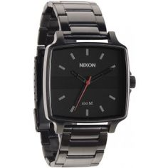 Nixon - The Cruiser Made with a stainless steel band, stainless steel case and textured dials, The Cruiser holds up all day in the water and all night on the town. Its black and white faces and both gunmetal and silver bands make it contemporary classic. Mode Masculine, Movado Mens Watches, Nixon Watches, Black And White Face, Black Gold, Style Masculin, Vintage Watches For Men, Stainless Steel Case, Man Shop