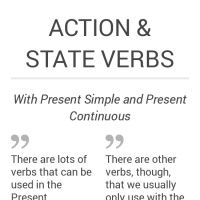 Infographic: ACTION & State Verbs