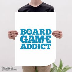 Board Game Addict Poster Tabletop and Strategy Gaming Art & | Etsy All Poster, Poster Prints, Hanging Posters, Geek Games, Game Room Decor, Room Posters, Game Art, Tabletop, Board Games