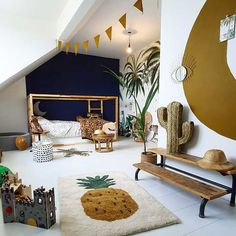 TOP 10 INSTA KIDS' ROOMS SUMMER 2019 - Kids Interiors kids room ideas rooms decor room ideas bedrooms room design kids room ideas room ideas on a budget Safari Kids Rooms, Safari Home Decor, Kids Bedroom, Bedroom Decor, Bedroom Ideas, Safari Bedroom, Safari Nursery, Nursery Ideas, Summer Bedroom