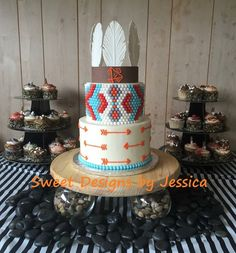 Indian themed cake