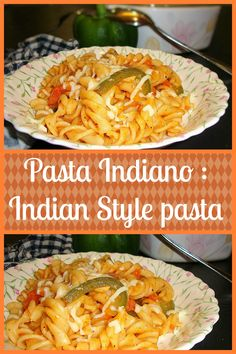 Pasta with a touch of Indian flavours ...