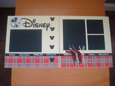 Disney twopage 12x12 scrapbook layout by KellyPaigeDesigns on Etsy, $20.00