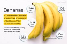 Why are banana calories worse for your diet? Check the facts about banana nutrition, carbohydrates in bananas, and other facts about bananas and weight loss. and Nutrition Nutrition Education, Sport Nutrition, Nutrition Month, Nutrition Activities, Holistic Nutrition, Nutrition Plans, Nutrition Information, Diet And Nutrition, Health And Nutrition