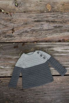 Easy crochet baby sweater pattern from 100 Baby Sweater Patterns