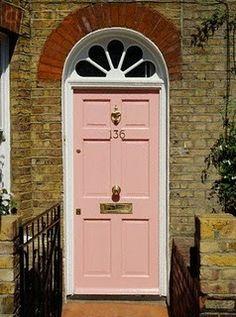 Blush pink door: pretty pink door