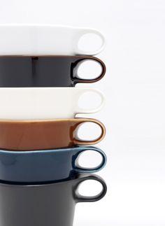 Stamug via jpdesign: Stackable mugs