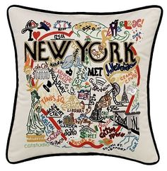 Catstudio New York City Pillow - Geography Collection Home Decor 083(CS) -- Check this awesome product by going to the link at the image.