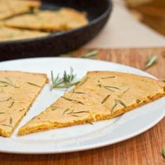 Farinata with Rosemary is a #vegan and #gluten-free #pizza made with chickpea flour from the Liguria region of #Italy. Light crisp and brimming with fragrant rosemary flavor.