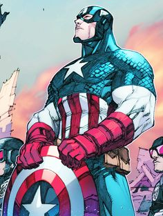 Captain America in Inhuman 002 - Crowdfunding - Ideas of Crowdfunding - Captain America in Inhuman 002 Marvel Comics, Arte Dc Comics, Marvel Heroes, Marvel Avengers, Captain Marvel, Comic Book Characters, Marvel Characters, Comic Character, Comic Books Art