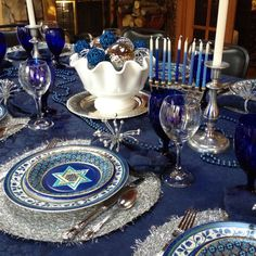 Gorgeous Hanukkah Tablescape