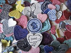 I Heart Market - Token Ceramics Ceramic Jewelry, My Heart, Pottery, Clay, Ceramics, Cool Stuff, Mud, Brooches, Tiles