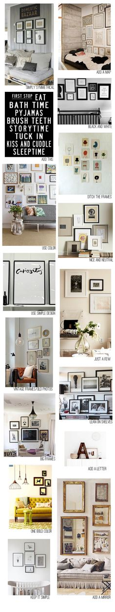 Gallery wall ideas via Grey Likes.