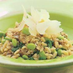 Risotto with Edamame, Arugula & Porcini  - EatingWell.com