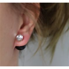 Náušnice dvojité Crystal Black | Womanology.sk #earrings #fashionjewelry #fashionjewellery #costumejewelry #costumejewellery #bijouterie #bijoux #fashion #style #accessories