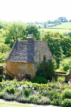 Little cottage home, in Snowshill, Cotswold, England.