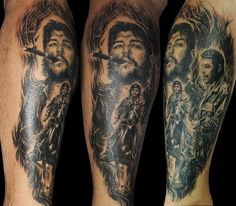 Che Guevara Tattoo, Ernesto Che, Chest Tattoo, Sleeve Tattoos, Tatoos, Cuba, Revolution, Tattoo Ideas, Tatuajes