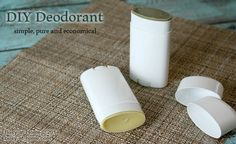 DIY, healthy, effective and simple to make Homemade Deodorant. I made this in my own kitchen in less than 15 minutes. Cost? Depending on some optional choices, .71 - .98 each. Amazing!