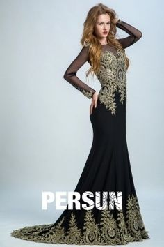 Persun Sleeved Lace Long Mermaid Prom Dress Winter Evening Dresses, Prom Dresses, Formal Dresses, Bride Dresses, Look Plus, Mothers Dresses, Gowns, Lace, Vintage