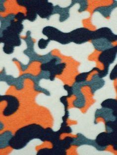 Orange/grey camo