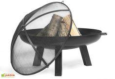Braséro en Acier Polo + Pare Etincelles (plusieurs dimensions) Dimensions, Transporter, Chair, Garden, Furniture, Home Decor, Electric Bbq, Garden Landscaping, Steel