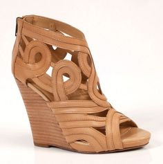 Nude wedge, my style Shoe Boots, Shoes Sandals, Shoe Bag, Heels, Hot Shoes, Wedge Shoes, Flats, Nude Wedges, Peep Toe Wedges