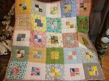 Handmade quilt machine quilted random children's patchwork baby girl snoopy