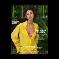Jump the waves. Do a cartwheel. Drink all the rum. Let your curls flow free. @elleuk's model of the year Damaris Goddrie (@damarisgoddrie) flies the flag on our #AprilELLE cover for women everywhere both as a representative of diversity within the industry and as a reflection of effortless cool proving all that matters this season is to do your thing and own it. #ELLExDamaris #DamarisGoddrie #ELLEcovers  via ELLE UK MAGAZINE OFFICIAL INSTAGRAM - British Fashion Campaigns  Haute Couture…