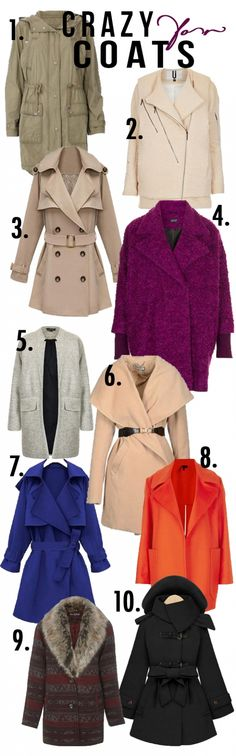 Fall Faves – 10 Coats I'm Crazy About
