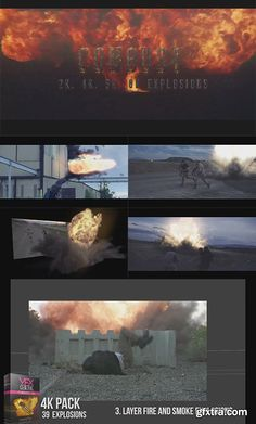 VfxCentral - Combust 4K Fire Explosions Pack Mov | 39 Clips | 3840X2160 | RAR 2.5 GBPreview