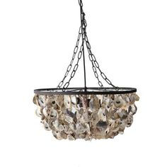 Draped with wooden beads in soft, neutral hues, the Addington Chandelier brings warmth and elegance to any room.