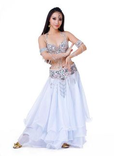 2019 New 3pcs set Belly Dance Costume Womens Belly Dancing Costume Sets  Tribal Bollywood Costume b6611c5ca570