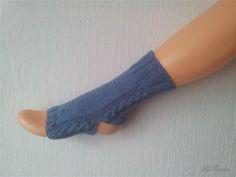Yoga Socken handgestrickt, jeans blau, vegan, Baumwolle Polyacryl von LiMariann auf Etsy