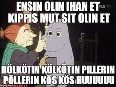 Hangover Humor, Finland Culture, Funny Shit, Funny Memes, Smart Quotes, Tove Jansson, Moomin, Crazy People, Videos Funny