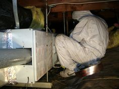 Mold removal and remediation in the crawl space underneath a house in San Francisco