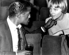 with wife May Britt before appearance on the Royal Variety Show Sammy Davis Jr, May, Stock Photos, Fictional Characters, Vectors, Celebs, Illustrations, Google, Celebrities