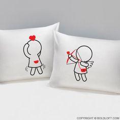 Cojines-referencia tú la mía yo el tuyo nos uno Regalo San Valentin amor algodón