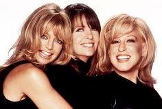 Goldie Hawn, Diane Keaton, and Bette Midler in