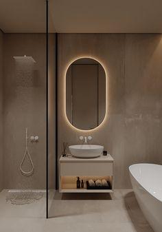AP I white sand on Behance Flat Interior Design, Interior Ceiling Design, Interior Design Photography, Interior Modern, Bathroom Lighting Design, Bathroom Design Luxury, Contemporary Bathroom Designs, Modern Bathroom, Bad Inspiration