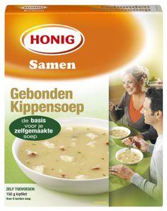 Honig Gebonden Kippensoep is een heerlijke crèmesoep met een zacht karakter. De lichte kruiding geeft je zelfgemaakte soep een smaak die vrijwel iedereen lekker vindt.