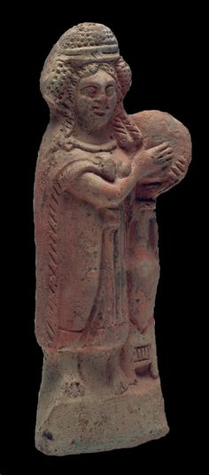 Isis Drumming Romano-Egyptian terracotta figurine  National of Classical Archaeology in Hungary