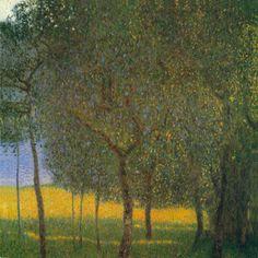 Gustav Klimt, Klimt Art, Famous Landscape Paintings, Original Paintings, Oil Paintings, A4 Poster, Poster Prints, Art Nouveau, Tree Wall Art