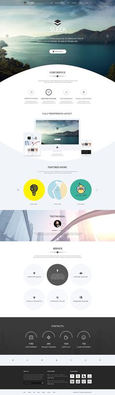 Sleek Multipurpose Website Part 2 on Behance