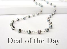 Today only (3/21/13)  save 40% on Peacock Pearl Necklace in Sterling Silver by BlueRoomGems, $41.00 #jewelry #gifts #Easter #mothersday