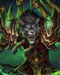 World of Warcraft Worgen Warlock Background – Cool backgrounds World Of Warcraft Game, World Of Warcraft Characters, Warcraft Art, Fantasy Characters, Warcraft Legion, Fantasy Creatures, Mythical Creatures, Warlock Class, World Of Warcraft Wallpaper