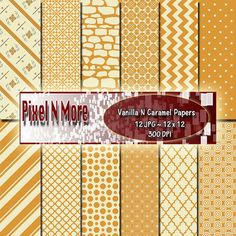 Vanilla N Caramel Combo Digital Paper Set Here are some of my favorite 2 color combos with some new designs.  This is an: Instant Download - Digital